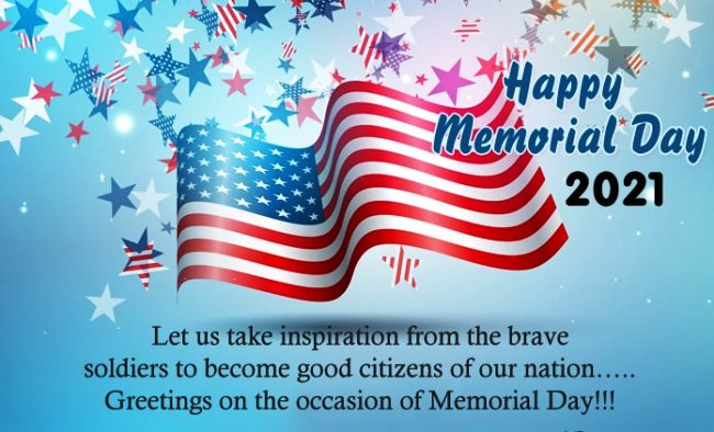 Inspirational Memorial Day Wishes Quotes 2021 Images
